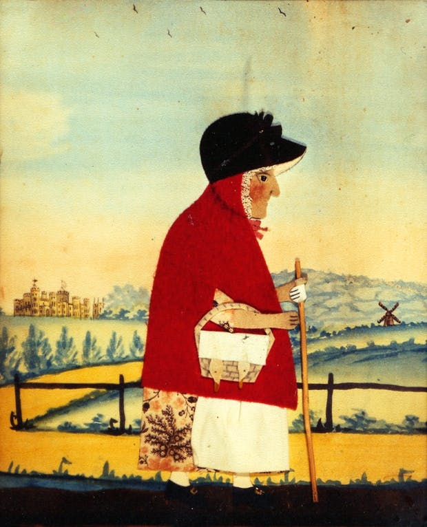'Goose Woman', c.1840, by George Smart