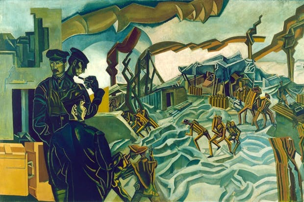 'A Battery Shelled', 1919, by Percy Wyndham Lewis