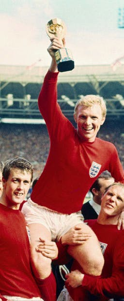 Bobby Moore in 1966 — so far the only Englishman to lift the World Cup
