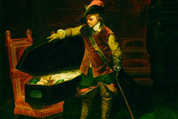 Oliver Cromwell opening the coffin of Charles I, by Paul Delaroche