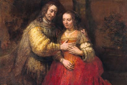 Portrait of a couple as Isaac and Rebecca, known as 'The Jewish Bride', c.1665, by Rembrandt