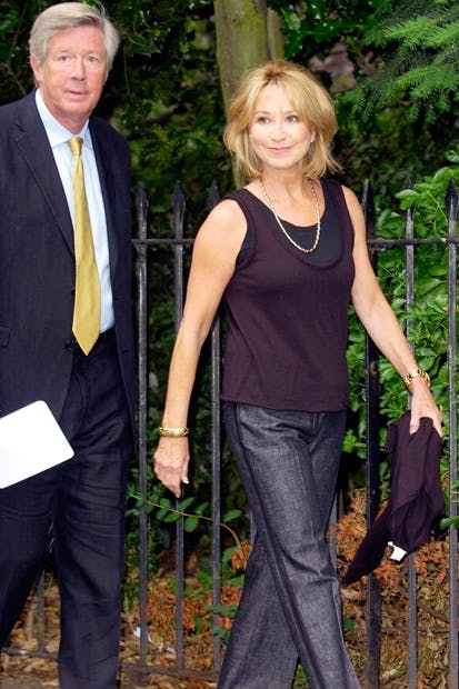 A figure of envy for much of male Middle England: Michael Rudman, with Felicity Kendal