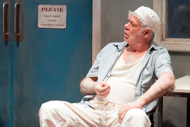 A wizened Victor Mature: Matthew Kelly in Toast