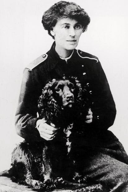 The theatrical Constance Markewicz founded the military boy scouts, who would later staff the IRA