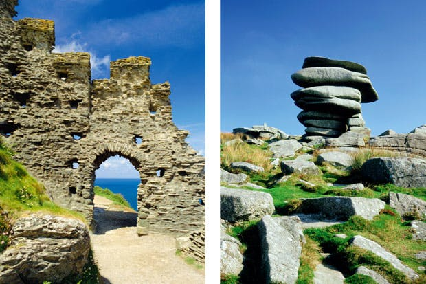 Philip Marsden gets close to the impenetrable secrets of Tintagel (left) and Bodmin Moor (right), among many other mysterious sites