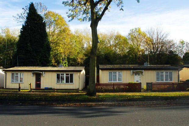 Grade II-listed Phoenix prefabs in Moseley, Birmingham