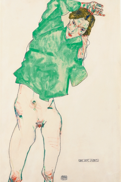 Egon Schiele at the Courtauld: a one-note samba of spindly limbs, nipples and pudenda