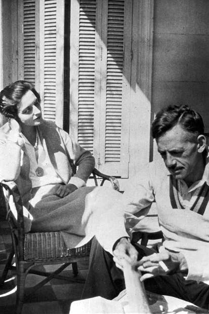 Eugene O'Neill with his last wife, the actress Carlotta Monterey, who safeguarded him, and enabled him to write his later plays, though friends and family considered her his jailer