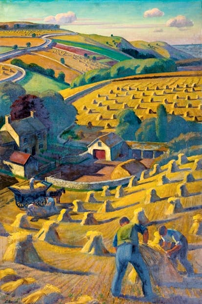 'Harvesting' by Adrian Allinson. 1939 From Of Cabbages and Kings by Caroline Foley