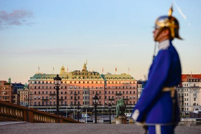 Grande dame: the Grand Hotel Stockholm as seen from the Palace