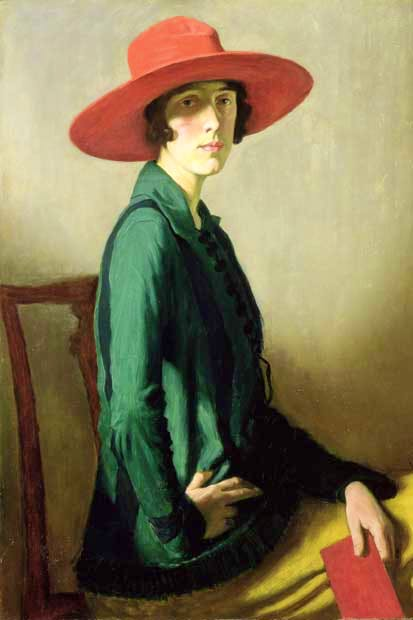 Vita as 'Lady with a Red Hat' by William Strang