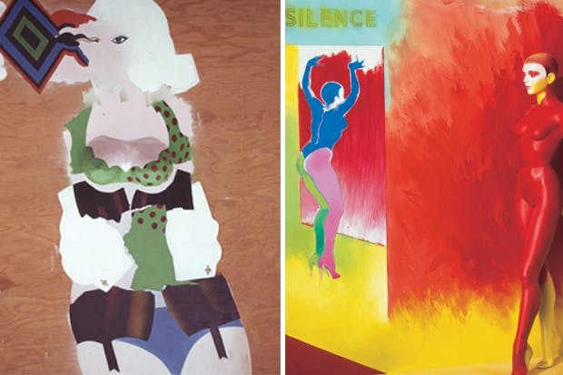 Above: 'Curious Woman', 1965; right: 'Stand In', 1991-92