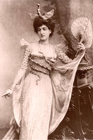 Margot dressed as an oriental snake charmer for a fancy dress ball at Devonshire House in 1897
