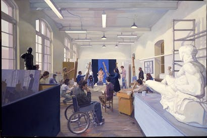 'The Life Room', 1977–80, by John Wonnacott