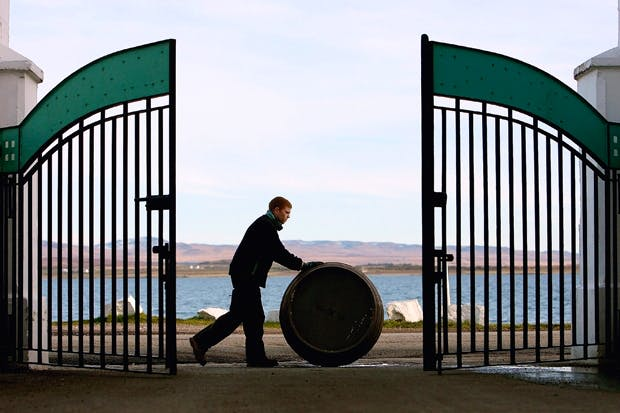 Islay as seen from the gates of the Bruichladdich distillery