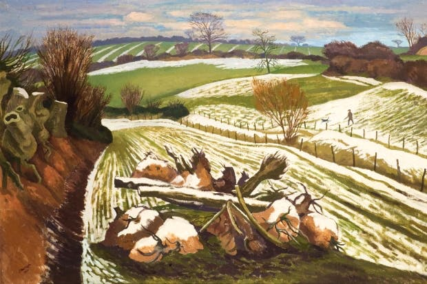 'Melting Snow at Wormingford', 1962, by John Nash