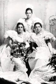 Princess Bamba, Catherine and Sophia Duleep Singh at their debut at Buckingham Palace, 1894