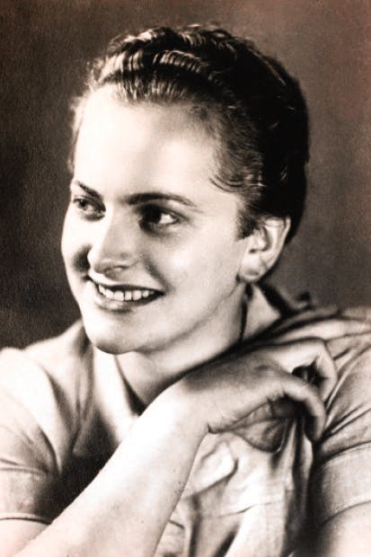 The face of evil: Irma Grese, one of the most hated of all camp guards, trained at Ravensbrück before moving to Auschwitz and Bergen-Belsen. Survivors testified to her extreme sadism, including her use of trained, half-starved dogs to savage prisoners