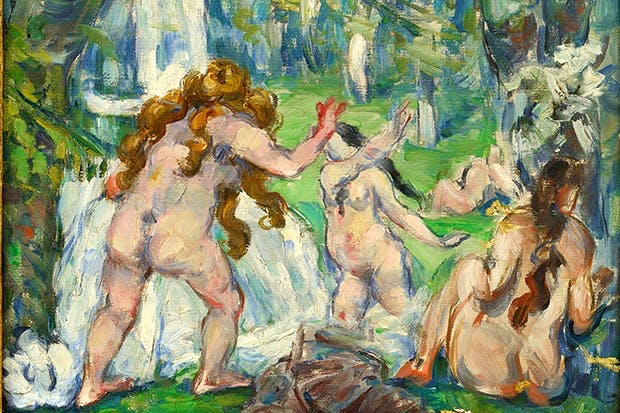 Weight watching: 'Three Bathers', c.1875, by Paul Cézanne