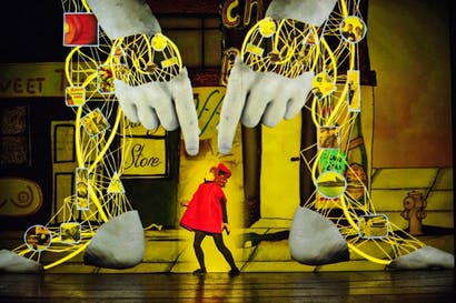Paul Barritt's stunning design for 'The Golem' resembles 'a ketchup-splattered bumble bee'