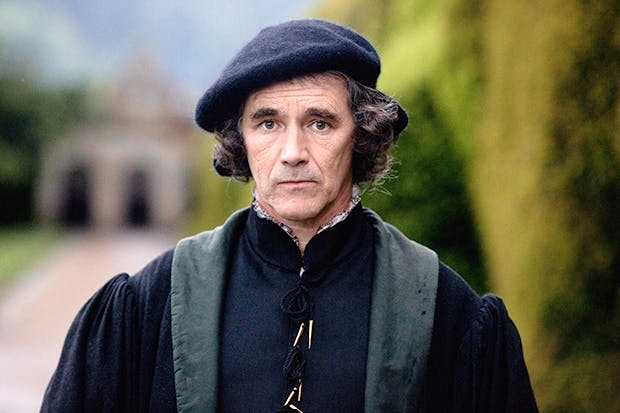 Dark thoughts: Mark Rylance as Thomas Cromwell