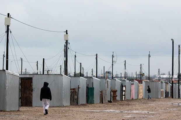 Blikkiesdorp, the shack settlement where Asad lived for the two years during which he and Jonny Steinberg collaborated on the book