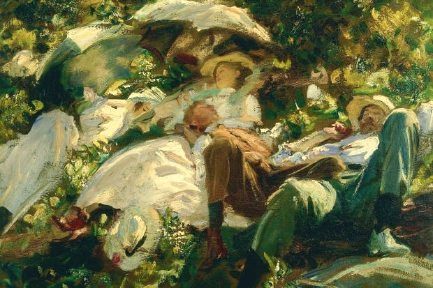 'Group with Parasols', c.1904, by John Singer Sargent