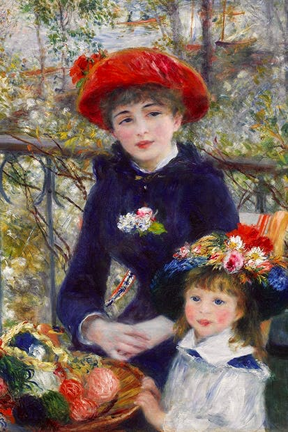 'Two Sisters (on the Terrace)', 1881, by Pierre-Auguste Renoir