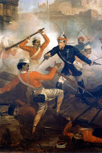 Lieutenant William Alexander Kerr earns the Victoria Cross in the Great Uprising of 1857
