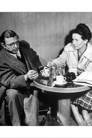 Jean-Paul Sartre and Simone de Beauvoir in 1946
