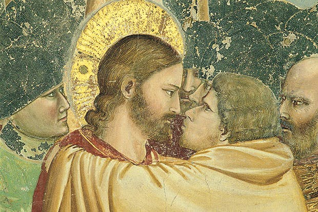 Giotto's 'The Kiss of Judas' in the Scrovegni Chapel, Padua