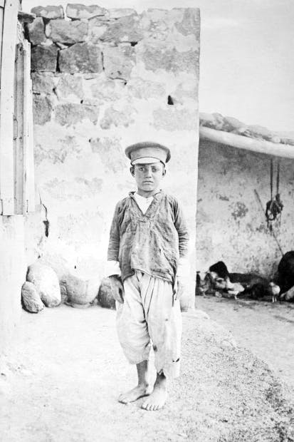 An Armenian orphan in 1915. Hundreds of thousands of Christian women and children who survived the genocide suffered forced conversion to Islam