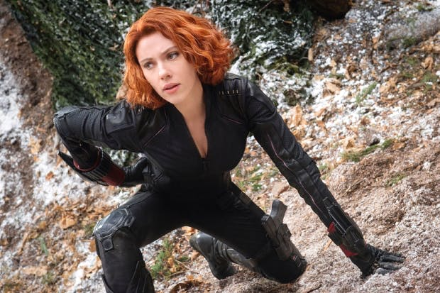 Back to black: Scarlett Johansson as Black Widow