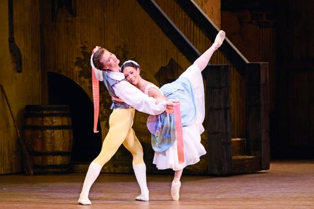 Vadim Muntagirov and Laura Morera in 'La Fille mal gardée'