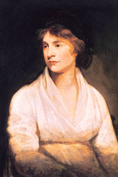 Mary Shelley's mother Mary Wollstonecraft by John Opie