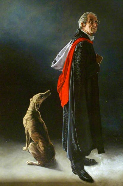 A portrait of Raymond Carr as Warden of St Antony's College, Oxford, by his son Matthew
