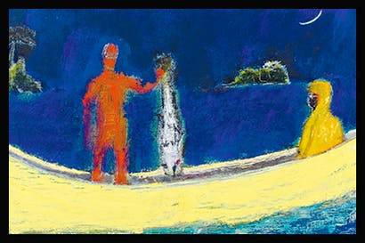 'Spearfisher', 2015, by Peter Doig