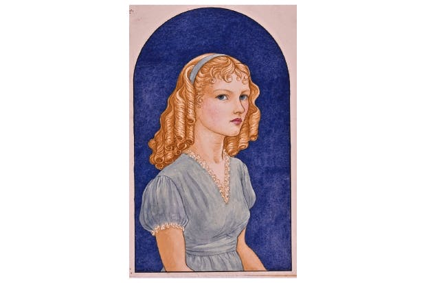 'Stephani in Blue' (1948 ), also by Edward,  is the last dated work from the Kelmscott period