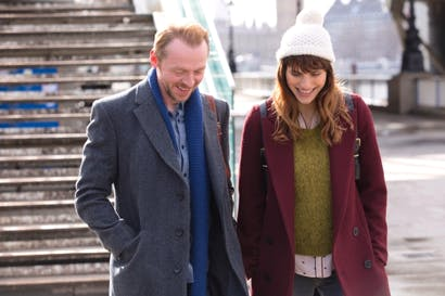 You want a sinkhole to appear and swallow them up: Simon Pegg (Jack) and Lake Bell (Nancy)