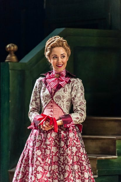 Acerbic sex bomb: Susannah Fielding as Mrs Sullen in 'The Beaux' Stratagem'