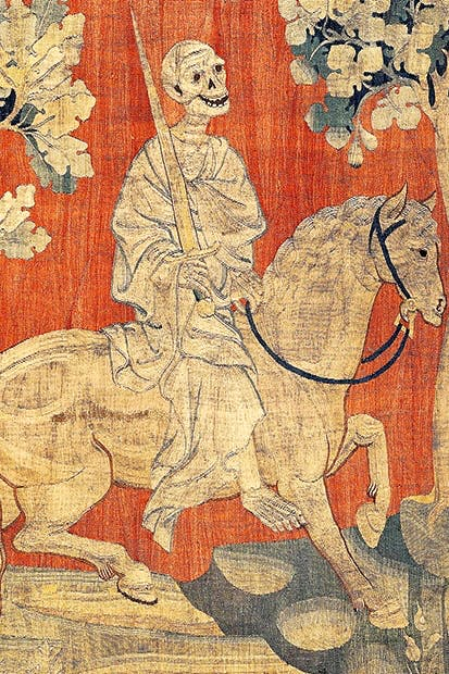 The Angers tapestry's  Horseman of the Apocalypse, (1377–1382)