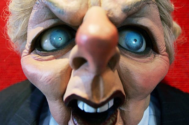 Selling power: a Spitting Image Thatcher puppet
