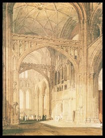 'Interior of Salisbury Cathedral, Looking Towards the North Transept', c.1801–5, by J.M.W. Turner