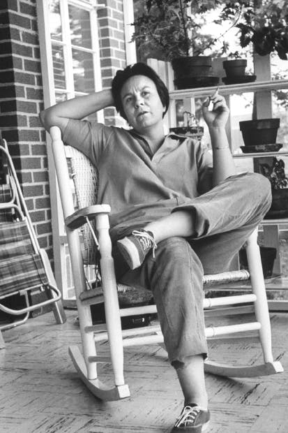 Harper Lee on a visit to Monroeville,  her home town in Alabama