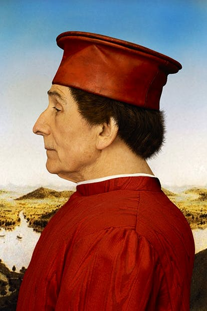 A Renaissance prince (Federigo da Montefeltro, after Piero della Francesca) Roy Strong at 80: Photographs by John Swannell, an exhibition at the National Portrait Gallery, will run until 31 August, admission free