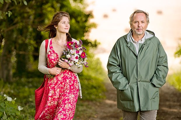 Gemma Arterton as Gemma Bovery, the male sexual fantasy made flesh, and Fabrice Luchini as Joubert