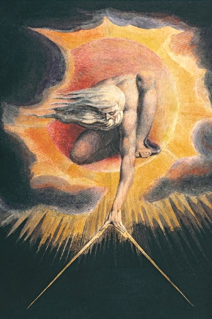William Blake's depiction of Urizen, creator and lawgiver