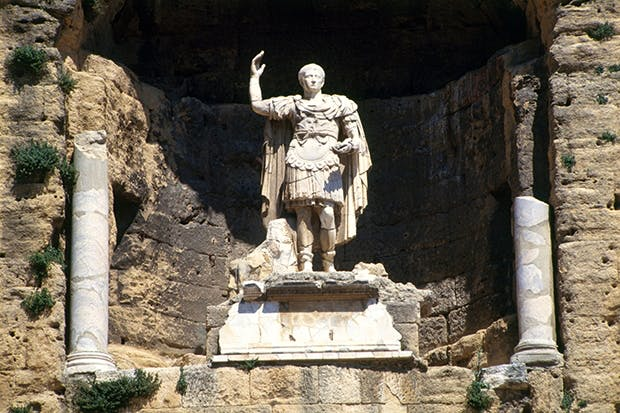 Statue of Augustus in Orange, southern France