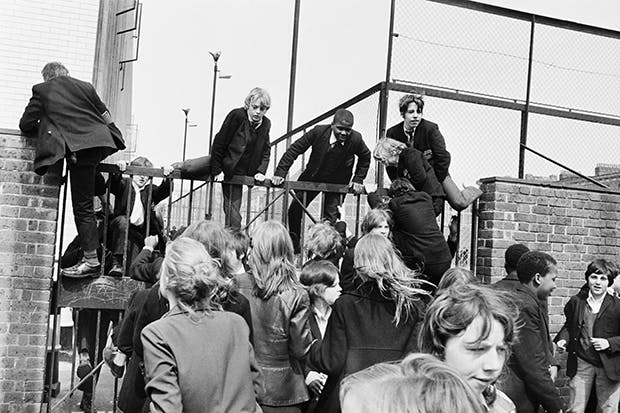Rough kids: boys from Rutherford School and girls from Sarah Siddons in Marylebone strike against caning, detention and uniforms, May 1972