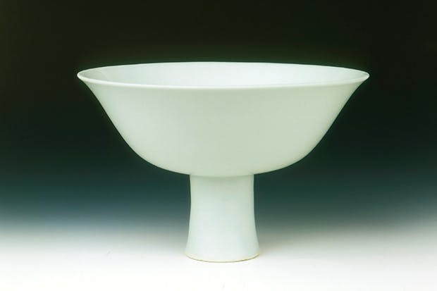 White glazed bowl, Shunzhi-Kangxi period, Qing dynasty, 1650–70